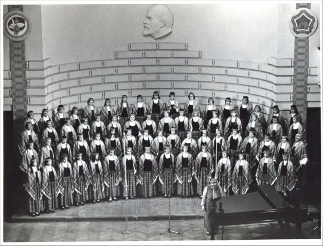Choir Medicus archive, Latvija/Latvia: Four-row Choir, 1985, Female choir Medicus Rezekne, Latvia