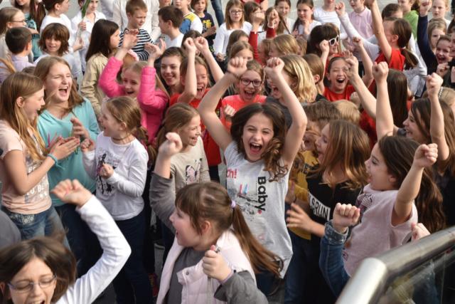 Janez Eržen, Slovenija/Slovenia: Razglasitev rezultatov, 2016, skupina pevcev iz različnih zborov, Slovenija / Awards ceremony, 2016, a group of singers from various choirs, Slovenia