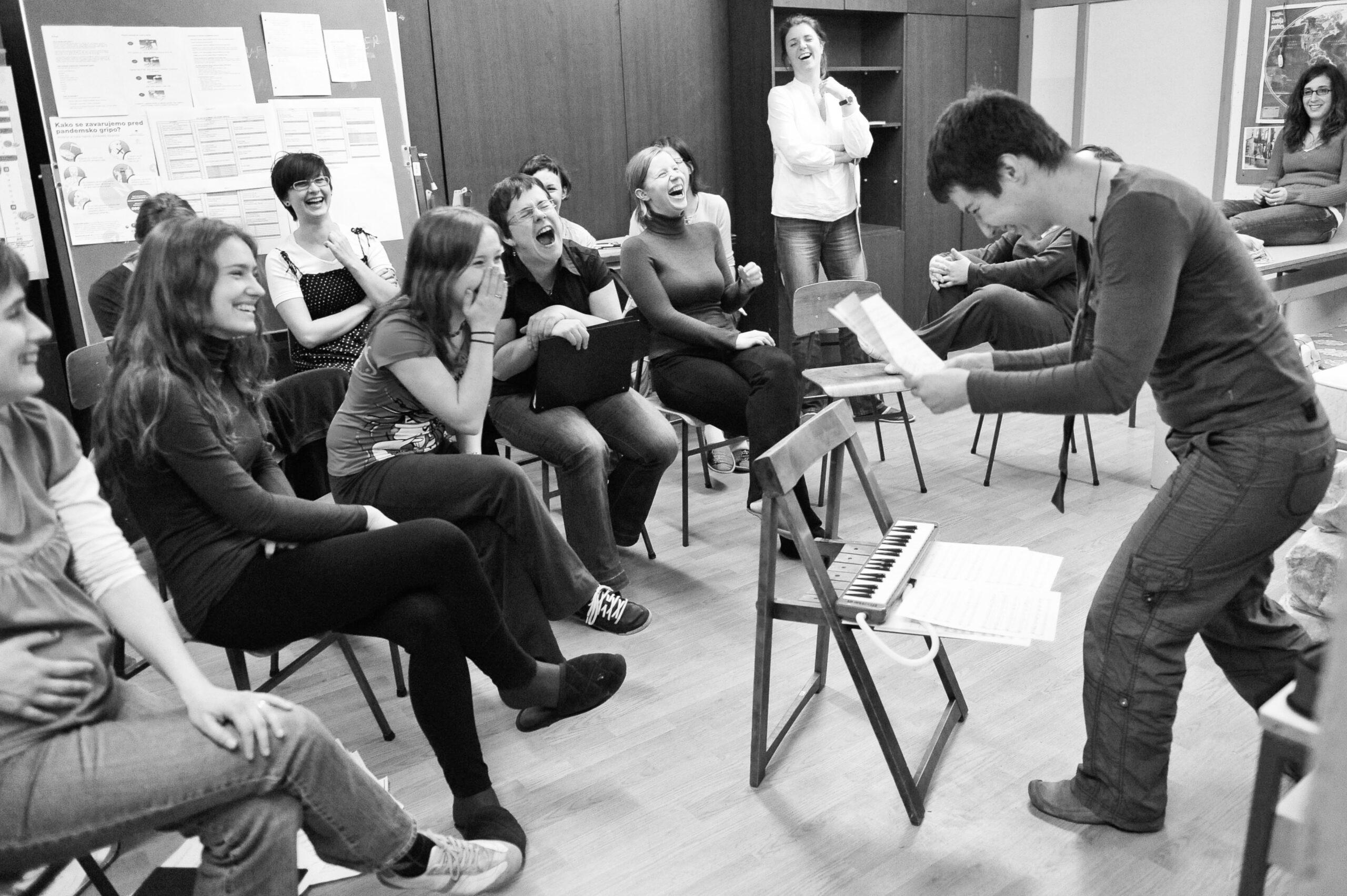 Jana Jocif, Slovenia: Final Instructions, Grudnove Šmikle, Slovenia - Conductor Marjeta Naglič gives the final instructions for song interpretation at a national choral competition Naša pesem 2010 in Maribor.