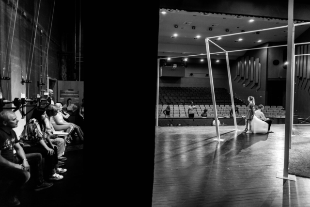 Mankica Kranjec, Slovenia: On the Other Side of the Curtain, 2018, Operette chorus of Žalec Institute for Culture, Sport and Tourism, Slovenia - Activity in front of and behind the stage curtain. A moment captured during rehearsal of the Hop-Picking Princess operetta by Radovan Gobec.