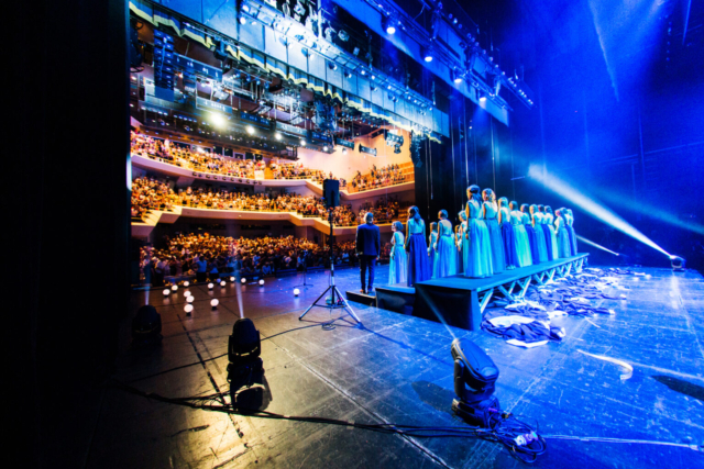 """Marko Alpner, Slovenia: Standing Ovation, 2018, Carmen manet, Slovenia - The concert """"Vidim te"""" (I see you) by Carmen manet, a Kranj-based female choir, filled to the very last seat the Gallus Hall of Cankarjev dom. The audience thanked the singers for their energy with a long standing ovation."""