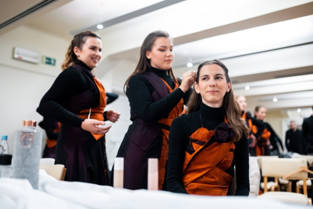 Matic Dolenc, Slovenia: Before Jumping on Stage, 2019, Saint Nicholas Choir Litija, Slovenia - Not only musical performance but also the physical appearance on stage is of great importance
