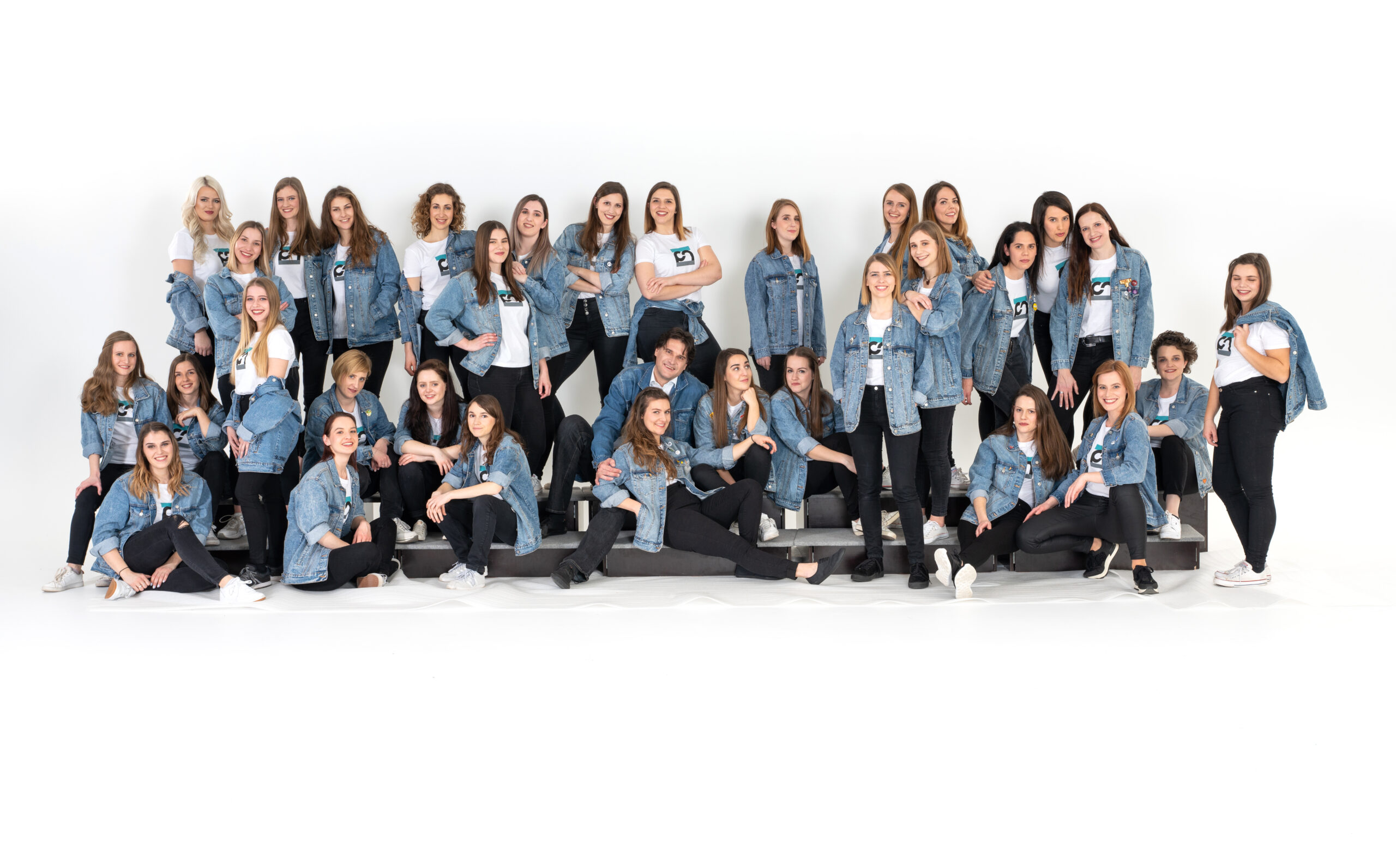 Matic Lipar, Slovenia: The CM Denim Jacket, 2020, Carmen manet, Slovenia - The CM denim jacket quickly became a statement piece and an essential element of the Carmen manet female choir attire. Each jacket is unique: the singers decorated them with patches, illustrations and other accessories that remind them of their joint achievements and adventures.