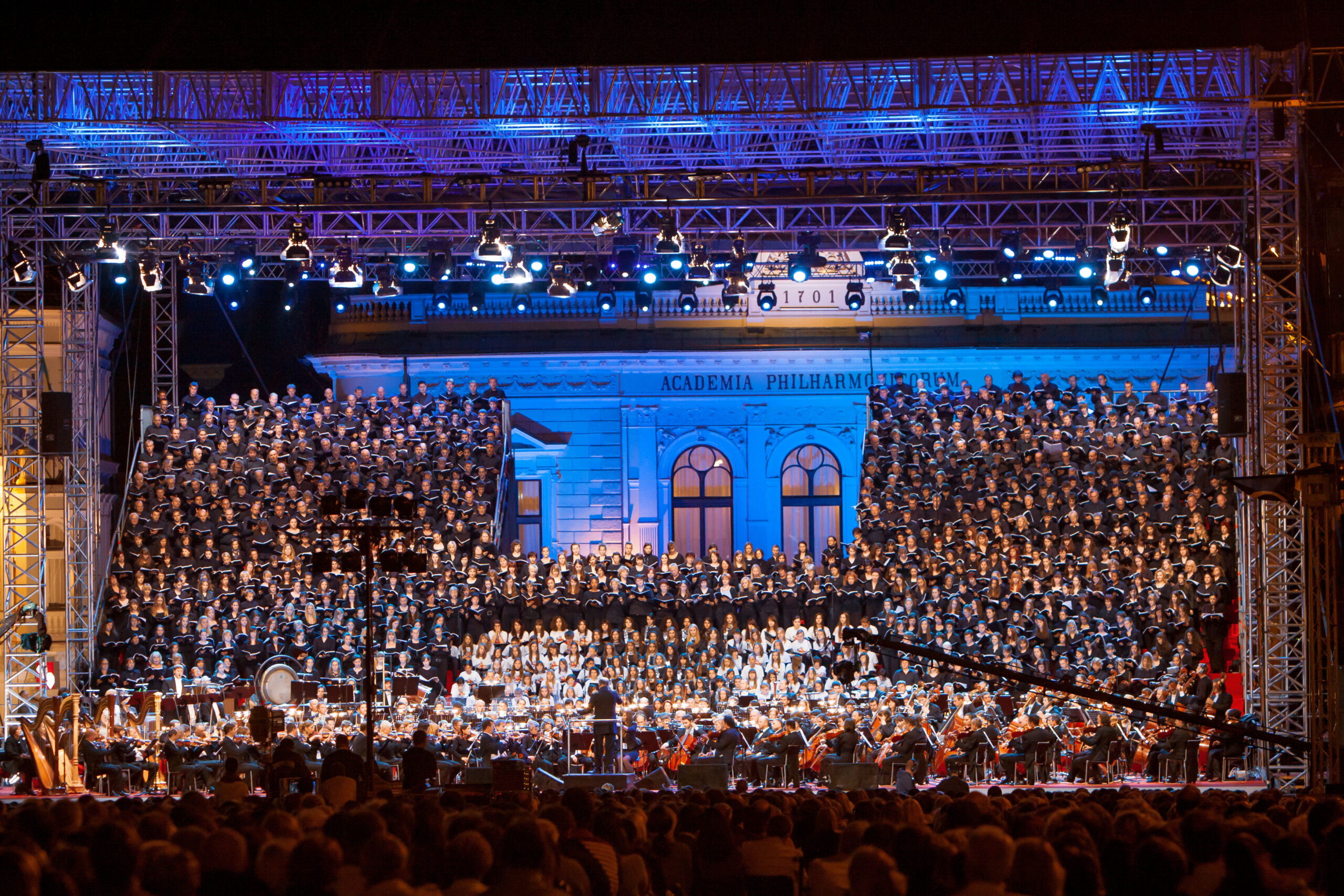 Janez Kotar, Slovenia: Symphony of a Thousand, 2011, Slovenia - On the 20th anniversary of Slovenia's independence, the Slovenian Philharmonic Orchestra and the Zagreb Philharmonic Orchestra performed Mahler's Symphony No. 8 under the baton of Valery Gergiev. The united choir consisted of 950 singers from 21 Slovenian and Croatian choirs.